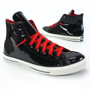 Converse Patent Leather Hi Tops LIKE NEW